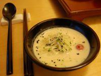 콩국수 (kong guksu; noodles in soy milk) @ Baru (발우공양)