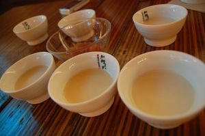 Makgeolli tasting @ ChinChin