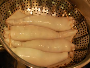 Stuffed Calamari Before Steaming