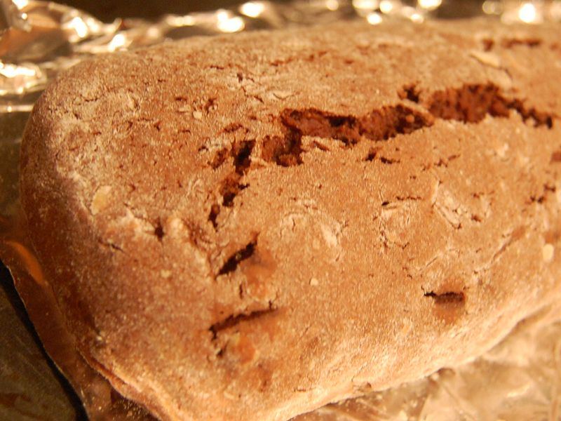 Chocgo Biscotti - before cutting