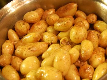 Mini Potatoes - browning