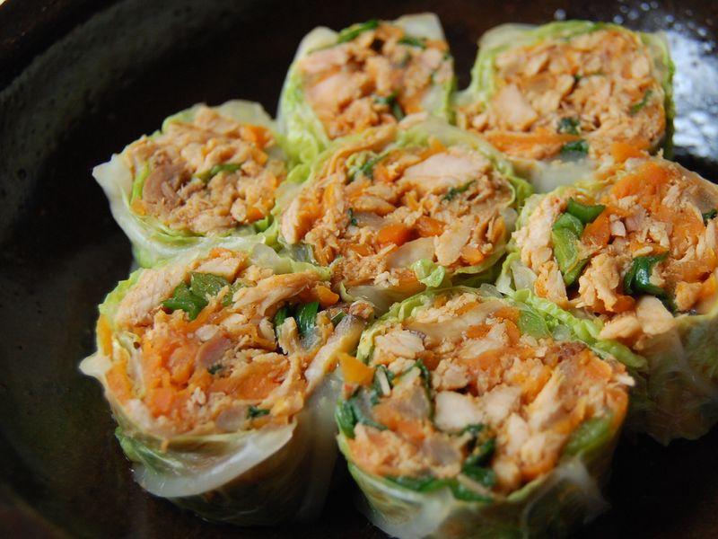 Spicy turkey cabbage wrap