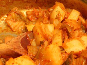 Kimchi Jjigae - saute