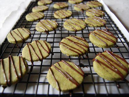 Nokcha cookies