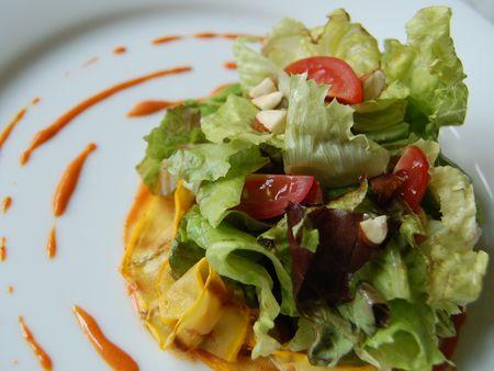 Lettuce salad -gochujang dressing