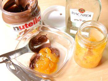 Nutella-rum spread