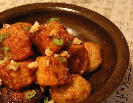Crispy tofu & soy garlic