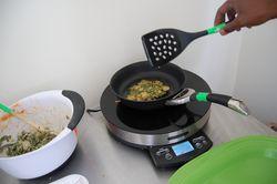 Making swiss chard pancakes