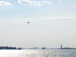 View of the Statue of Liberty from the Fulton Ferry Landing