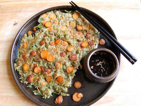 Carrot Pancakes (당근 전 - dang geun jeon)