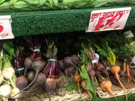 Baby beets in Chelsea Market