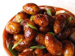 Mini Potatoes in Soy-Honey Glaze (감자조림 - gam ja jo rim)