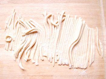 Make knife-cut noodles (칼국수 - kal guk su)