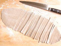 Roll out & cut buckwheat noodle dough