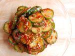 Kimchi-Style Cucumber Salad (오이무침 - oi muchim)