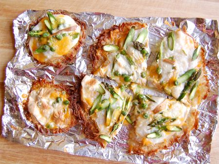 Spring Vegetable Pizza on Potato Crust