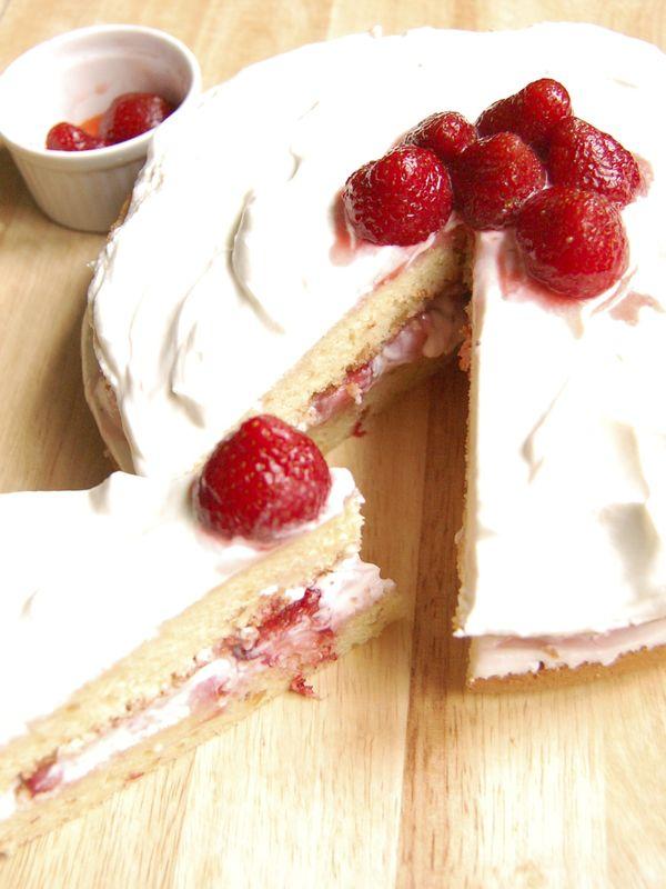 Strawberry Sake Cake In Rice Cooker S H I N S H I N E