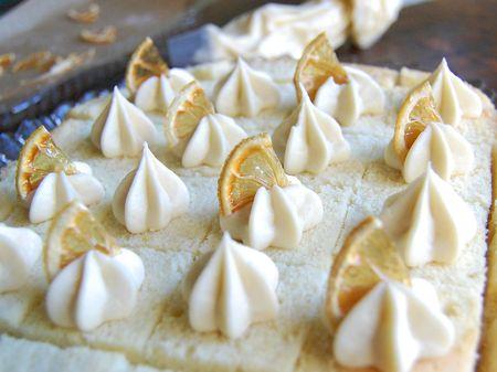 Triple Lemon Cake - Close-up & Cute!