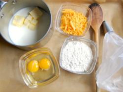 1) Choux pastry prep