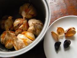 3) Day 9 - Peel black garlic