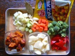Korean curry preparation