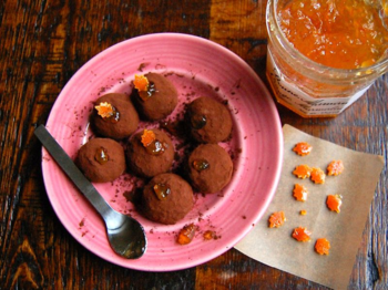 Orange marmalade & candied peel with truffles