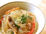 Simple Japchae (잡채) - Glass Noodles with Vegetables