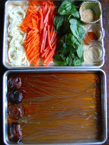 Weeknight Japchae (잡채) Preparation