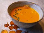 Carrot Soup with Carrot Chips