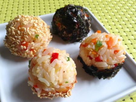 Mini Rice Balls (주먹밥 ju meok bap)