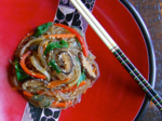 Weeknight Japchae (잡채) - Glass Noodles with Vegetables
