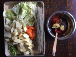 Ingredients for spicy chicken stew