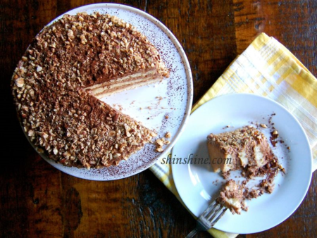 Layer Cake with Nutella Mousse Frosting