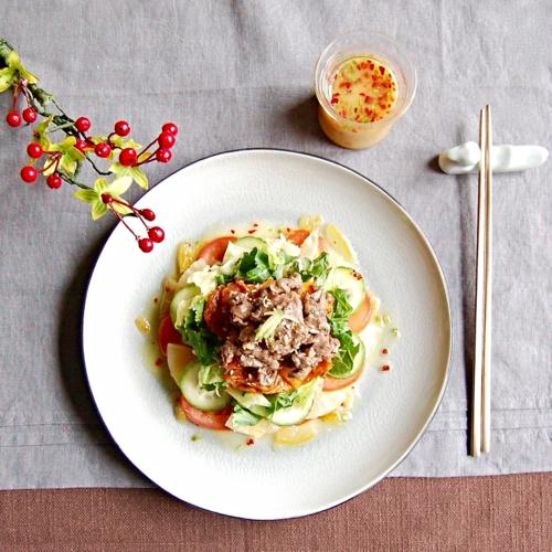 Salad w Yuzu Dressing/Yuja Sauce (유자소스)