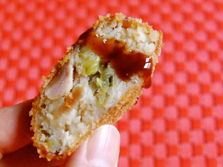 Croquette with tonkatsu sauce